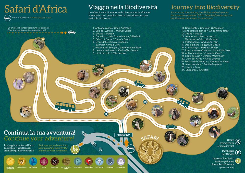 Karte Gardasee Lazise.Safaripark Parco Natura Viva