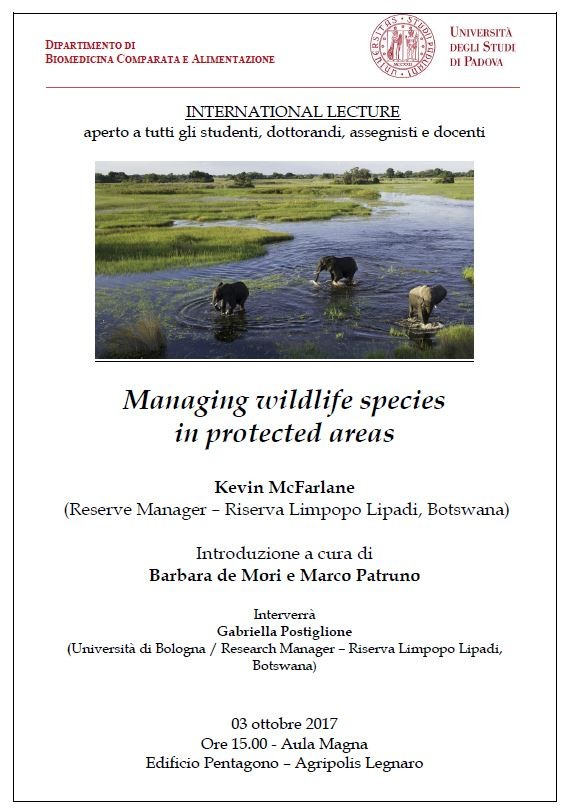 Managing wildlife species in protected areas - Università di Padova