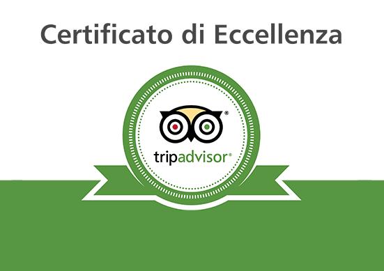 Certificato di Eccellenza TripAdvisor!